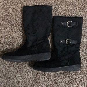 Women's coach snow boots